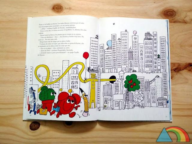 Interior del libro Vámonos, dijo el lápiz de Ikea