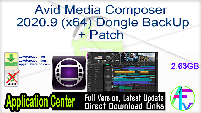 Avid Media Composer 2020.9 (x64) Dongle BackUp + Patch