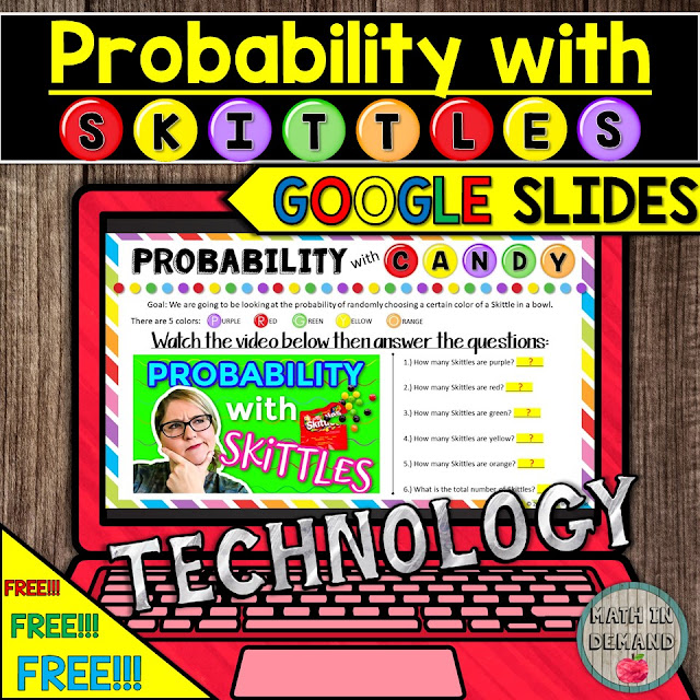 Probability with Skittles Activity in Google Slides Distance Learning