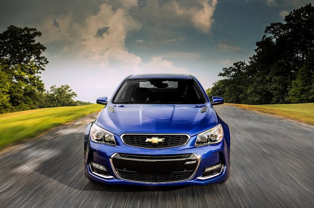 2016 Chevrolet SS front blue