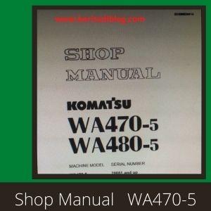 Komatsu wa470-5 wa480-5 wheel loader shop manual