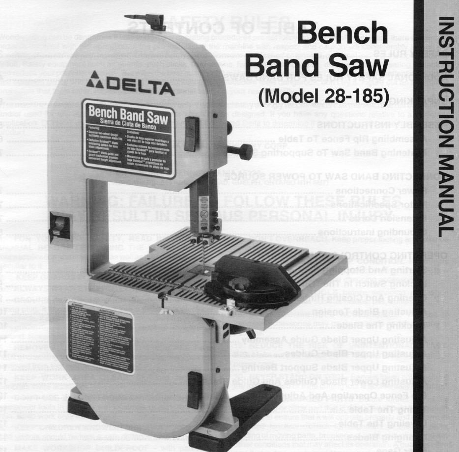 Cleaning Up A Delta Band Saw And Installing New Tires Model