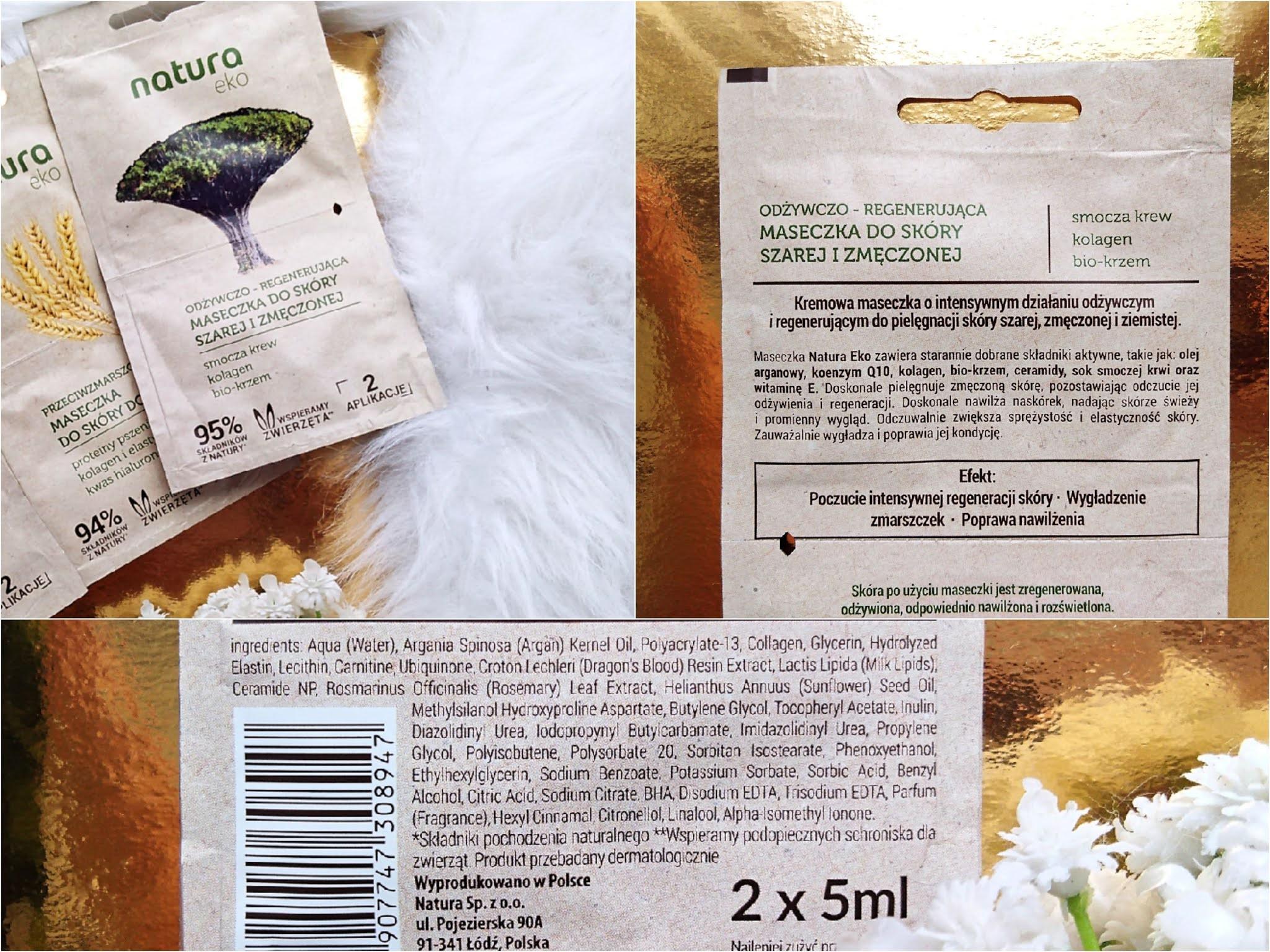 Natura eko maska odżywczo regenerująca, Natura Eko maska odżywcza opinie