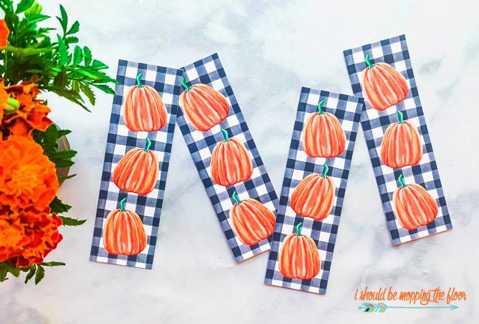 Pumpkin Bookmarks