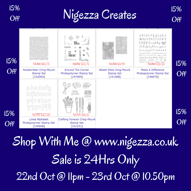 Nigezza Creates with Stampin' Up! 24hr Sale 15% off Stamp sets