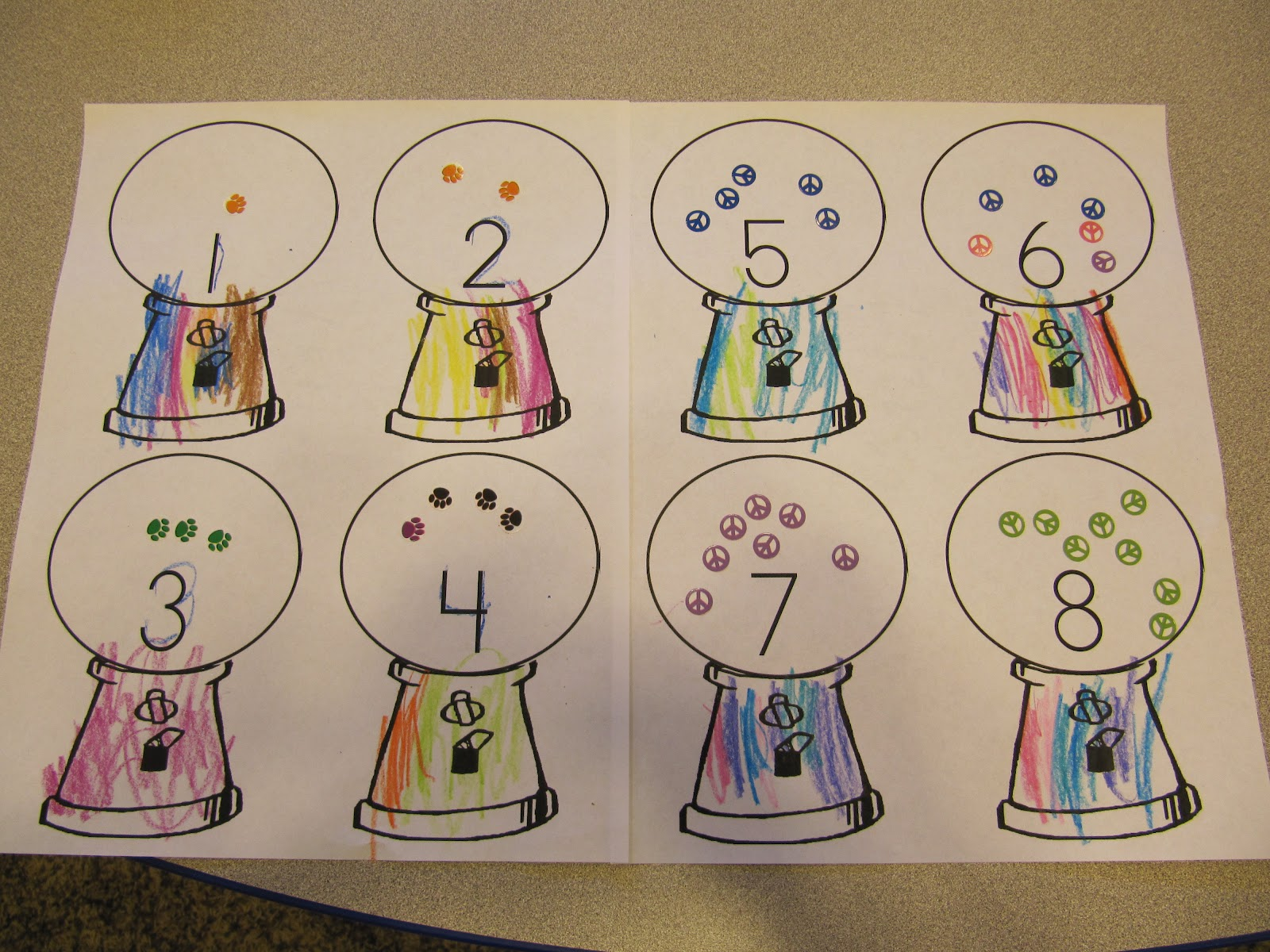 Preschool Letter G Gumball Machine Worksheet