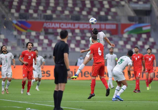 ملخص اهداف مباراة العراق وايران (0-3) تصفيات كأس العالم
