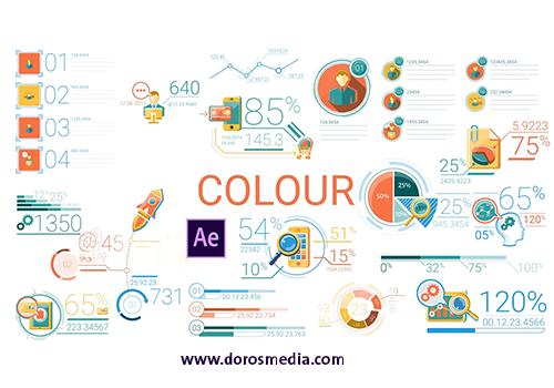 قوالب افترافكت قالب رسوم بيانية متحركة رائعة للافترافكت  Business Infographic Elements After Effects Templates