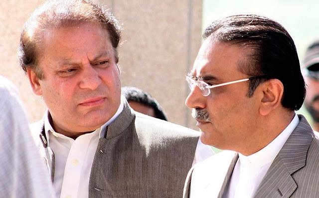 'Et tu, Brute': Nawaz believes Zardari talking against him to 'please someone'