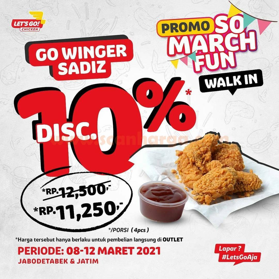 LETS GO CHICKEN Promo SO MARCH FUN – Go Winger Sadiz DISKON 10%