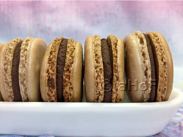 Less Sugar Chocolate Macarons