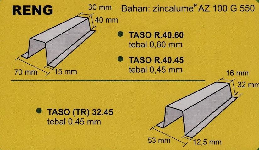 jarak reng baja ringan atap galvalum kuda desain rumah