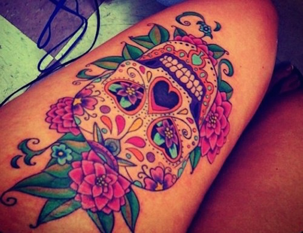 best tattoo ideas for a woman's thigh