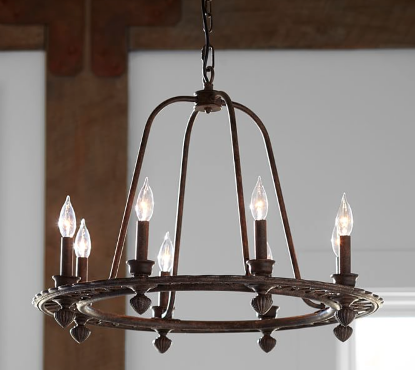 Pottery Barn Bronze Chandelier: SoPo Cottage: Lighting, Lighting, Lighting