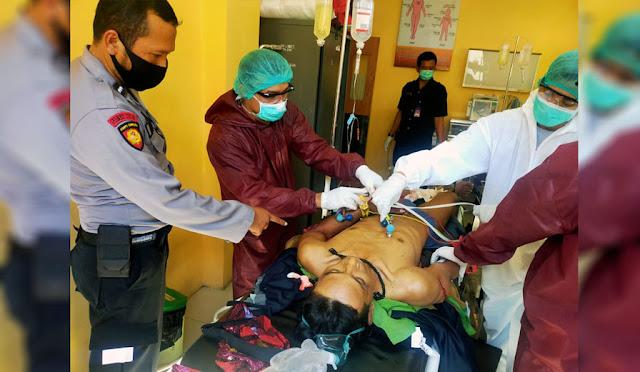 Kondisi korban ketika ditangani petugas medis