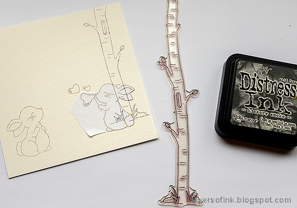 Layers of ink - Easter card with no-line coloring tutorial by Anna-Karin Evaldsson.