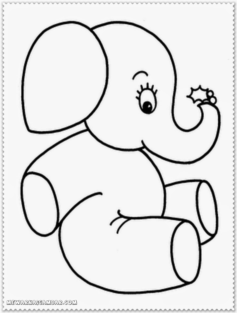 Elephant Coloring Pages To Print