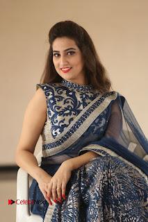 Actress Manjusha Pictures in Saree at Srirastu Subhamastu Song Launch  0084.JPG