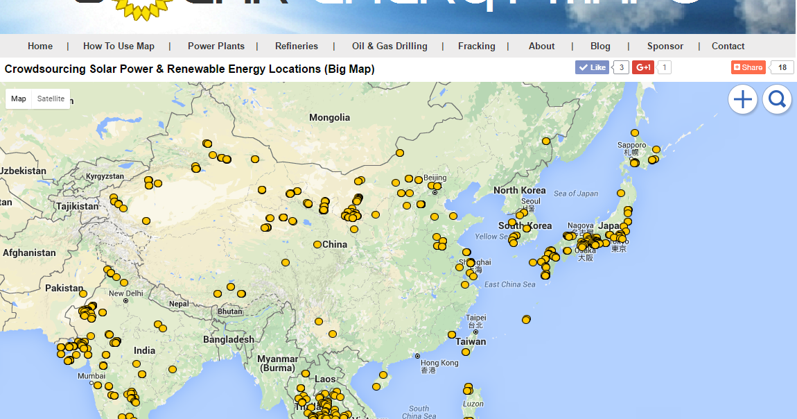 asia solar map solar farms solar parking lots