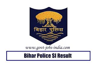 Bihar Police SI Result 2019