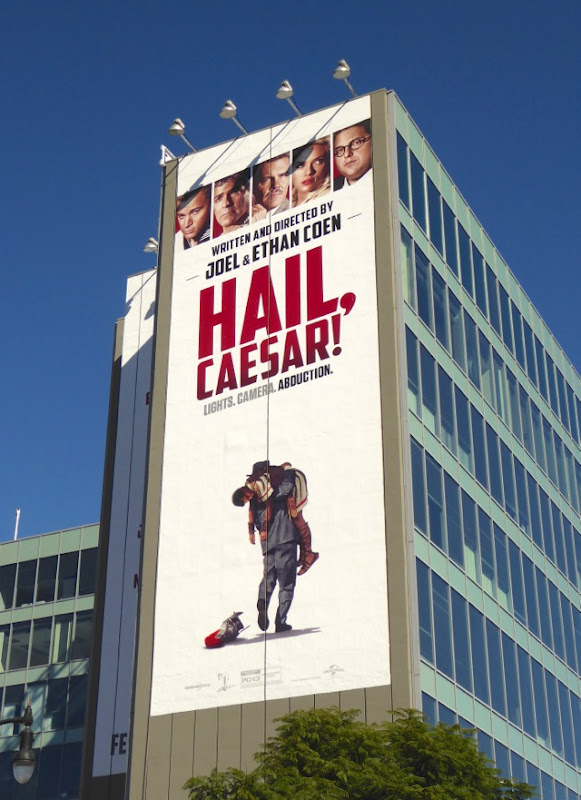 Giant Hail Caesar film billboard