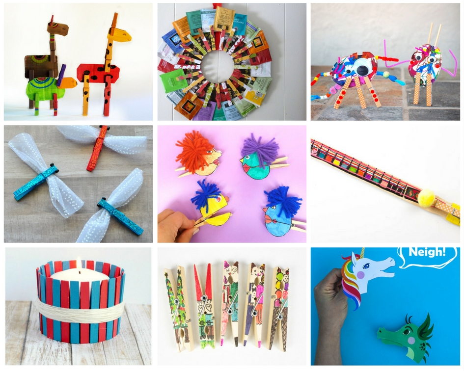 10 Super Cute And Fun Clothespin Crafts