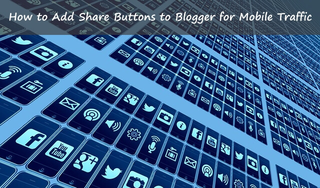 Share buttons for mobile blog