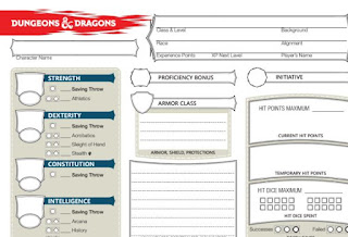 D D 5e Character Sheet Fillable Editable Dungeons And Dragons