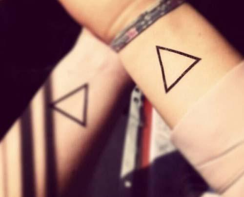 geometrik bilek dövmeleri geometric wrist tattoos 3