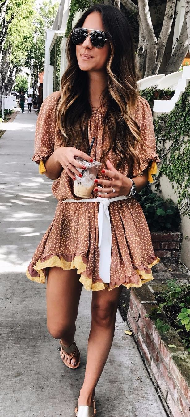 weekend vibes - cute printed dress