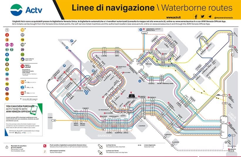 Rota do Vaporetto em Veneza: como se locomover em Veneza