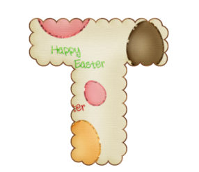 Happy Easter Abc. Abc Feliz Pascua.