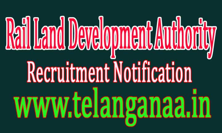 RLDA (Rail Land Development Authority) Recruitment Notification 2016
