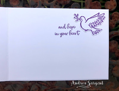 Gorgeous Grape Dove of Hope Stampin Up card, Andrea Sargent, Independent Stampin' Up Demonstrator, Adelaide, South Australia, 2020