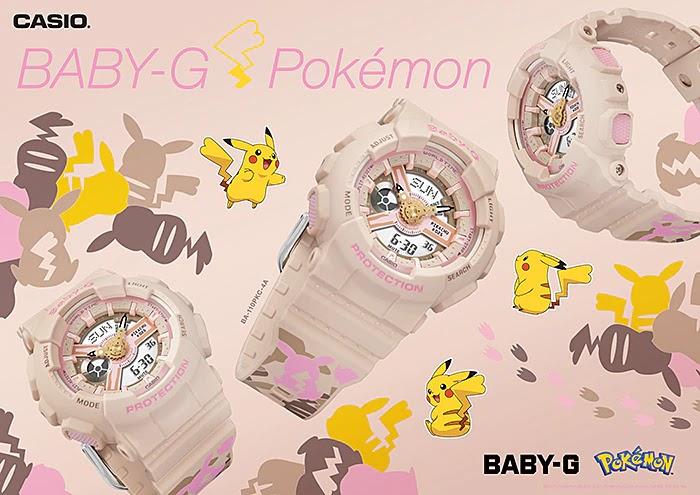 Casio Relógio Pokémon Baby-G