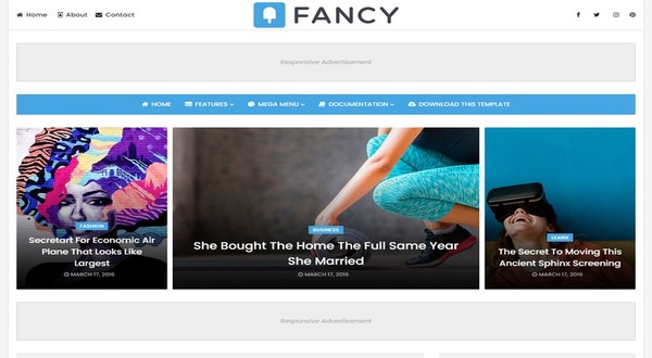 Fancy Blogger Template Free Download