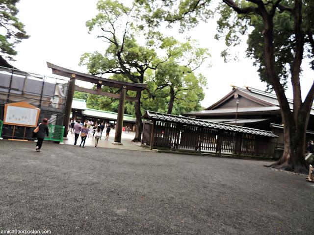 Obras en el Santuario Meiji, Tokio
