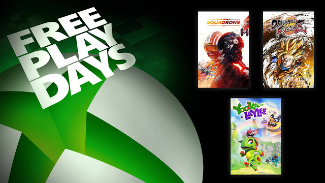 dragon ball fighterz star wars squadrons yooka laylee xbox live gold free play days event