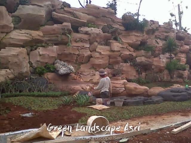 Jasa Pembuatan Relief Kolam Tebing Gresik   Tukang Dekorasi Relief Taman
