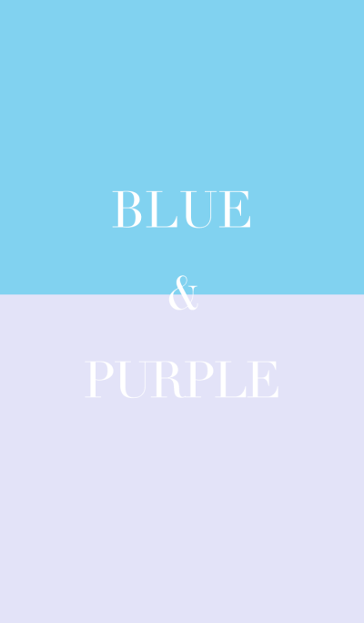 blue & purple