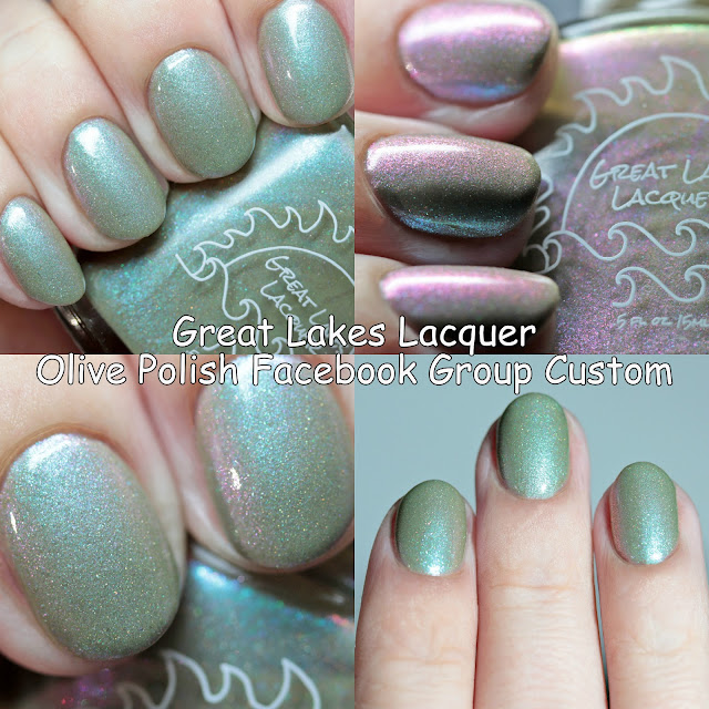 Great Lakes Lacquer Olive Polish Facebook Group Custom October 2020