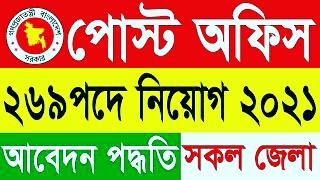 Bangladesh Post Office Job Circular 2021- www.bdpost.gov.bd ll BD Govt Job and Today BD Job Circular