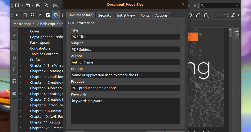How To Edit PDF Metadata Tags On Linux Using A GUI Or