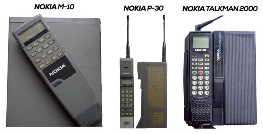Nokia phones in the year 1988