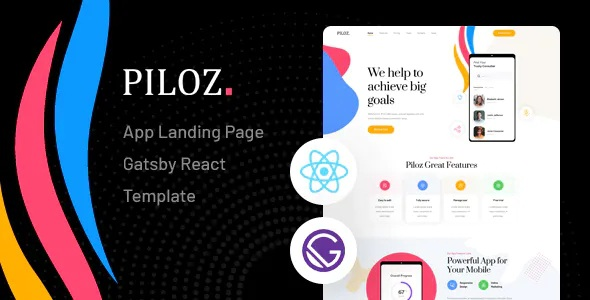Best Gatsby React App Landing Page Template
