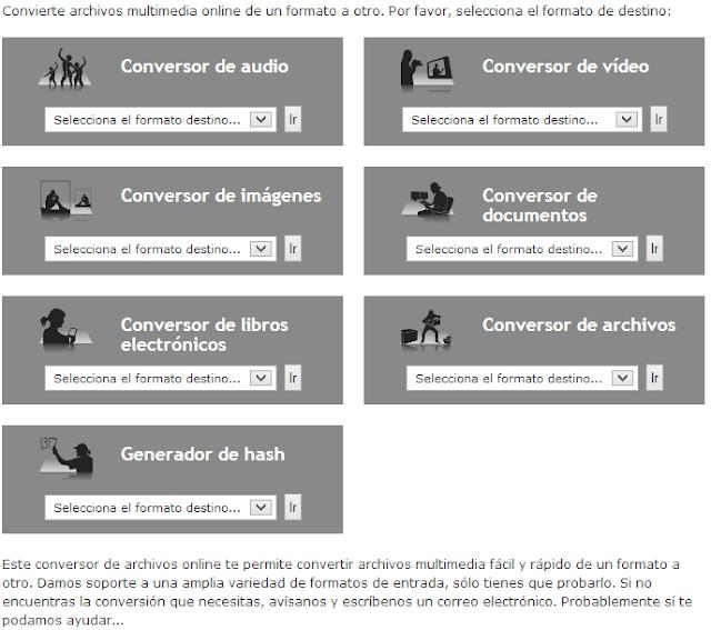 herramientas, online, convertidor, archivos, extensiones, conversor