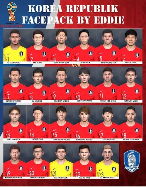 South Korea World Cup 2018 Facepack PES 2017