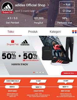 promo 11 11 shopee adidas