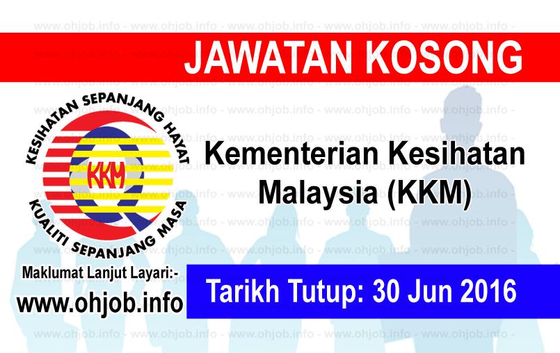 Jawatan Kerja Kosong Kementerian Kesihatan Malaysia (KKM) logo www.ohjob.info jun 2016