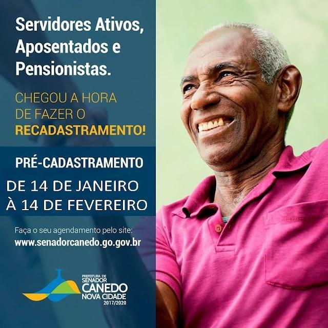 Senador Canedo: Novo prazo para recadastramento dos servidores públicos